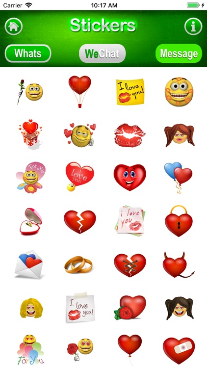 3D Stickers Messages, WeChat