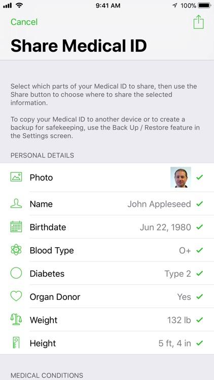 Medical ID Record screenshot-6