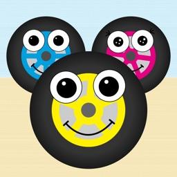 【乳幼児向けアプリ】タイヤとあそぼ