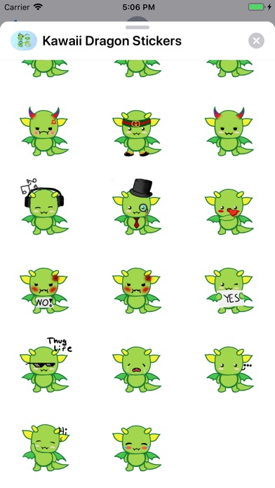 Screenshot for Kawaii Dragon Stickers in Viet Nam App Store