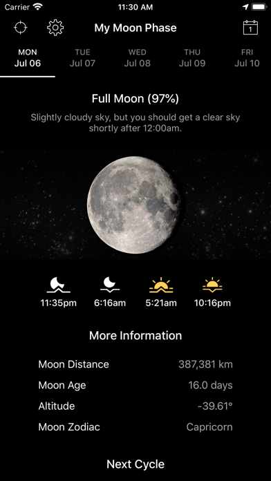 My Moon Phase Pro - Alerts Screenshot