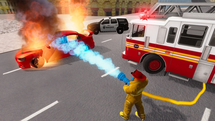 Fire Truck Game 911 Emergency screenshot-5