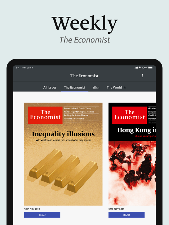 The Economist for iPad screenshot
