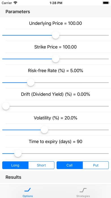 Screenshot for OptionGreeks in United States App Store
