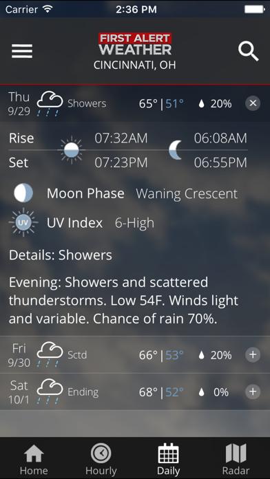 Fox19 First Alert Weather review screenshots