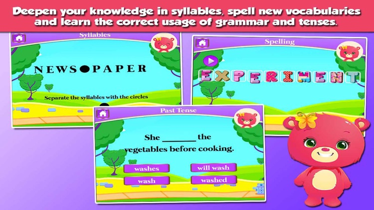 Bears 3rd Grade Learning Games screenshot-4