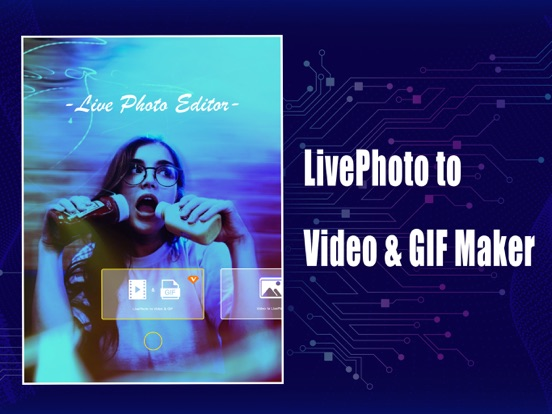 Screenshot #1 for Live Photo Edit to Video & GIF