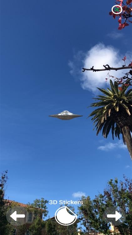Augmented Reality UFO Stickers screenshot-8