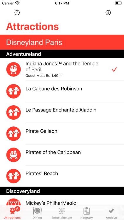 Theme Park Checklist: Paris