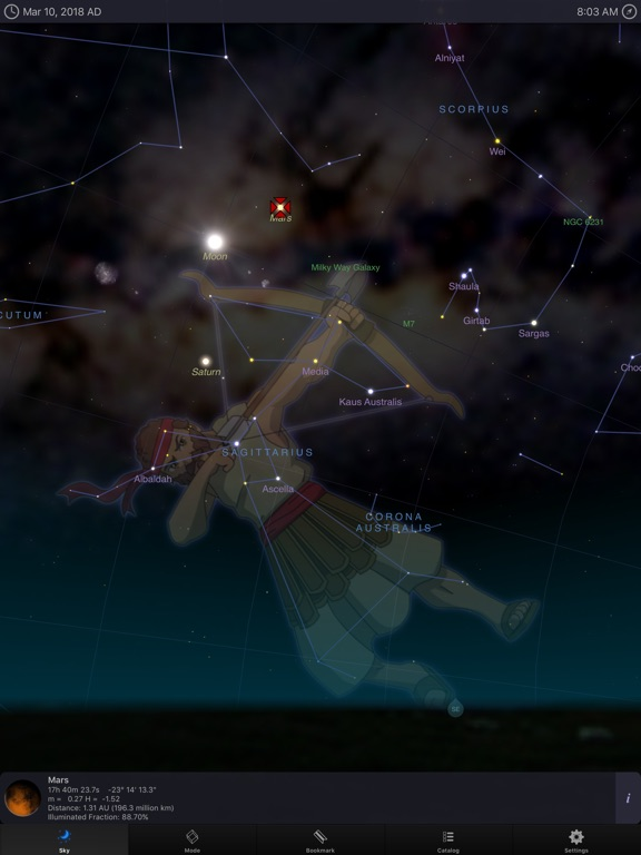 Screenshot #1 for StarMap 3D+ Plus