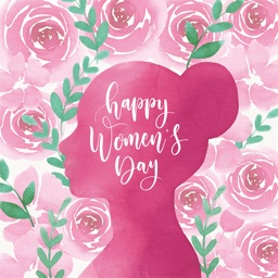 Happy Women's Day Stickers Set