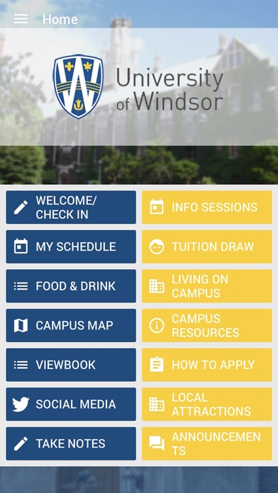Uwindsor Campus Map.Uwindsor Events App Mobile Apps Tufnc Com