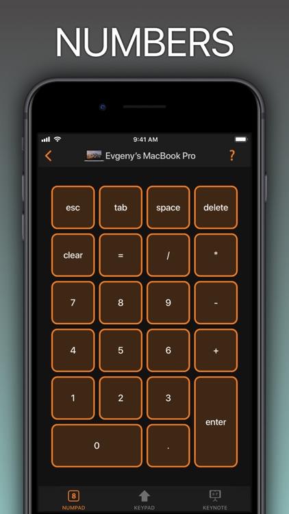 NumPad, KeyPad remote keyboard