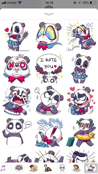 Cute Panda Pun Funny Stickers screenshot 1