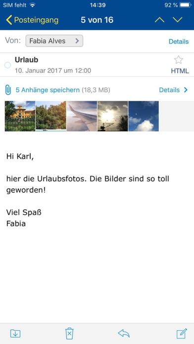 1&1 MailScreenshot von 1