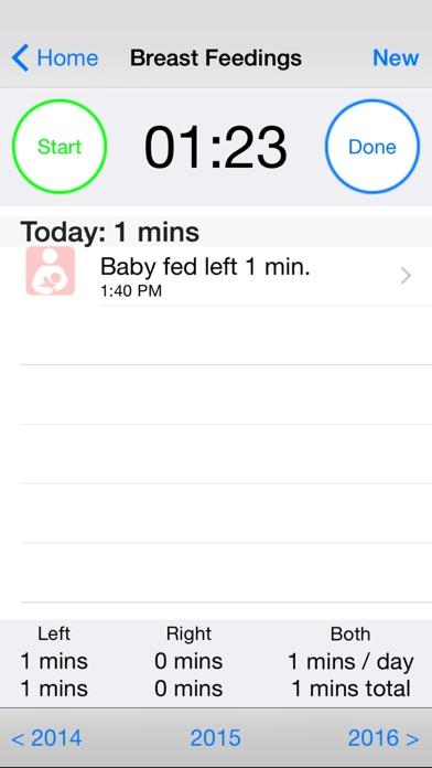 Baby Loggy - newborn care logScreenshot of 3