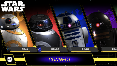 Screenshot from Star Wars Droids App by Sphero
