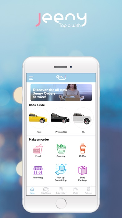 Screenshot for Jeeny - Previously EasyTaxi in Jordan App Store