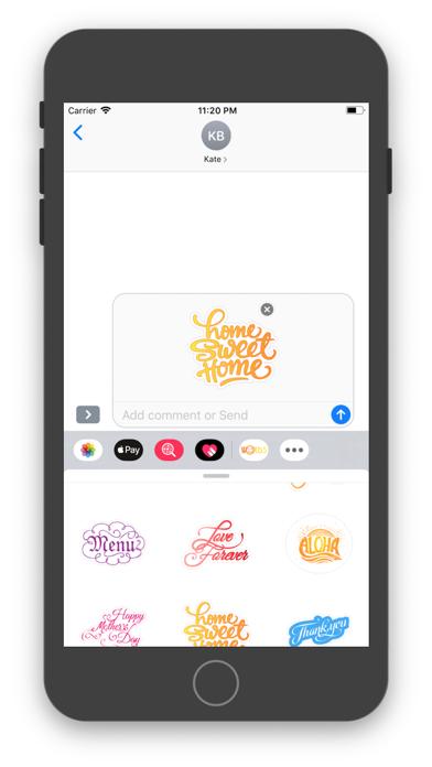 Words - Sticker PackScreenshot of 2
