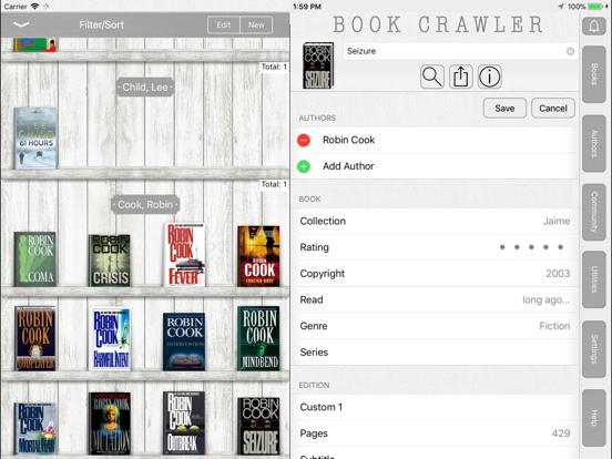 Book Crawler iPad