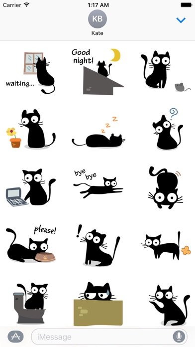 Cute & Weird Black Cat Sticker screenshot 2
