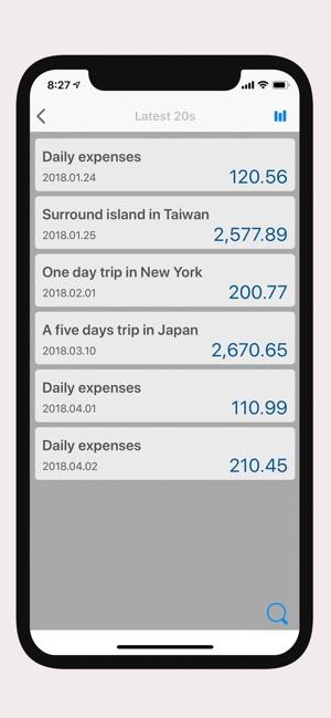 Calculator Save Expenses List 4