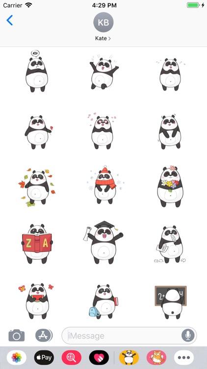 Cute Cartoon Panda Stickers