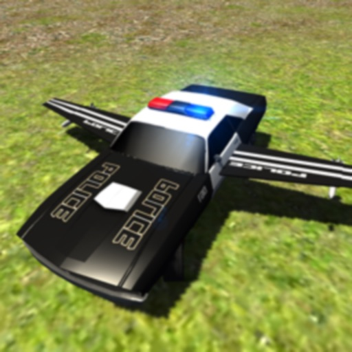 Flying Police Car Driving Sim