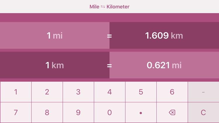 Miles to Kilometers   mi to km screenshot-3