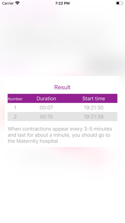 Contraction timer - Forty
