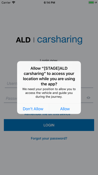 Screenshot of ALD carsharing1