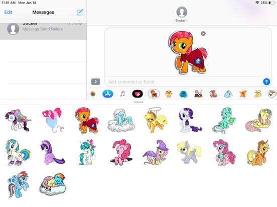 Pony Cute Funny Stickers screenshot 5
