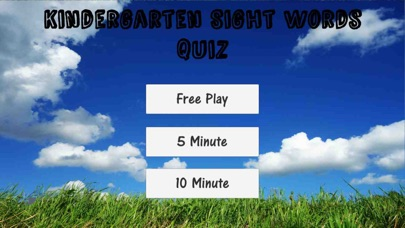 Screenshot for Kindergarten Sight Word Quiz in Czech Republic App Store
