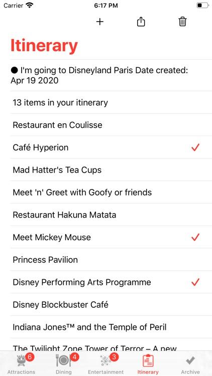 Theme Park Checklist: Paris screenshot-3