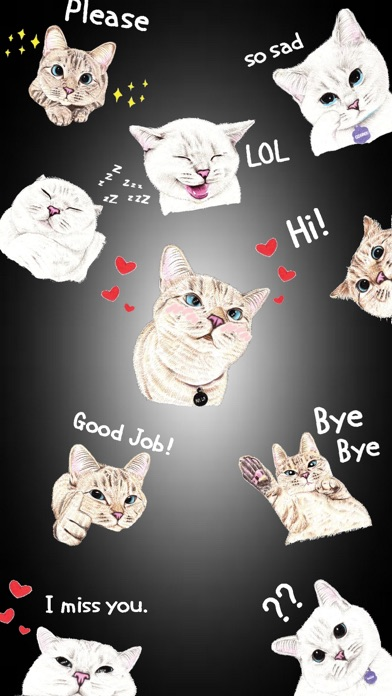 Screenshot for White Cat Expressions in China App Store