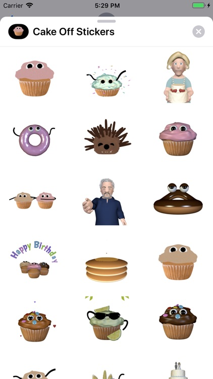 Cake Off Stickers