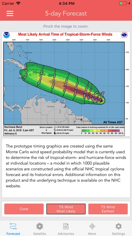 National Hurricane Center Data screenshot-2