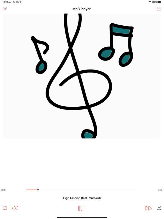 Player GR Music Streamer iPlay iPad app afbeelding 3