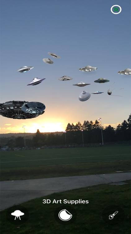 Augmented Reality UFO Stickers screenshot-7