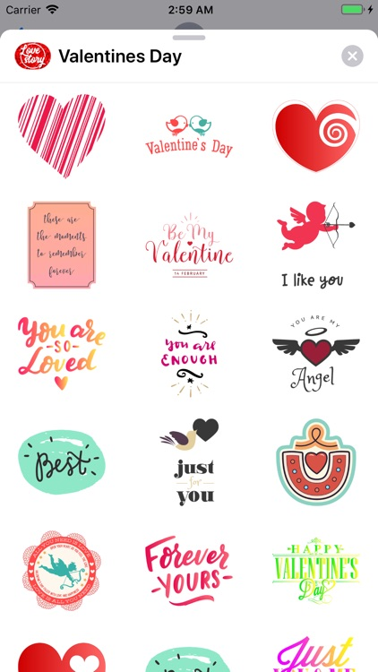 Happy Valentines Day Stickers