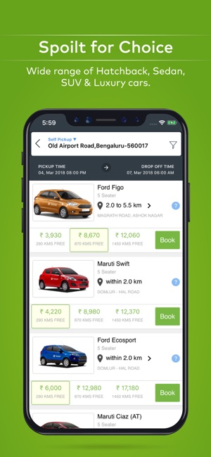 Zoomcar Self Drive Cars On The App Store