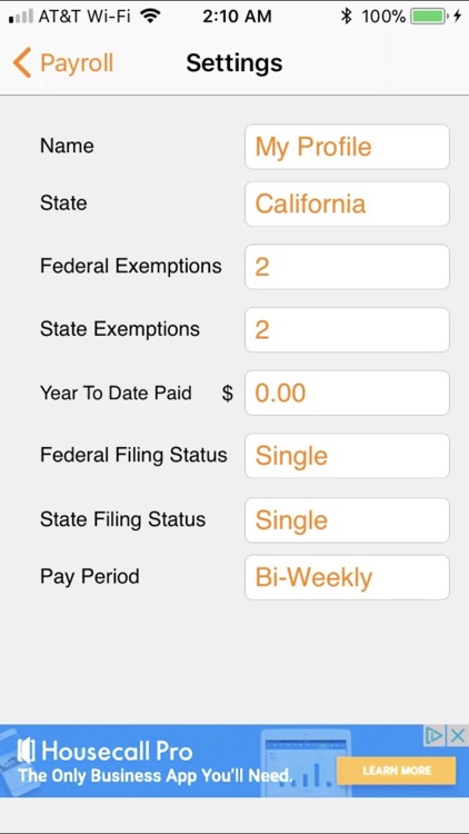 Paycheck Lite : Mobile Payroll screenshot-2