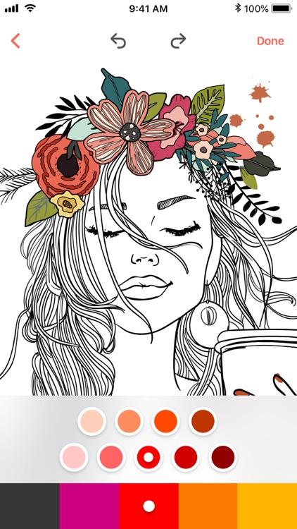 Adult Coloring Book - Colors screenshot-3