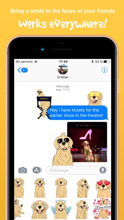 ParkerMoji - Golden Retriever screenshot-3