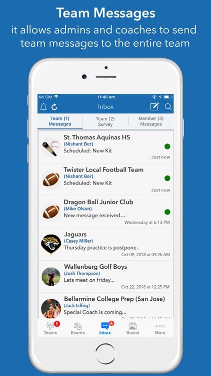 InstaTeam sports team manager screenshot-9