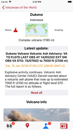 Volcanoes & Earthquakes on the App Store