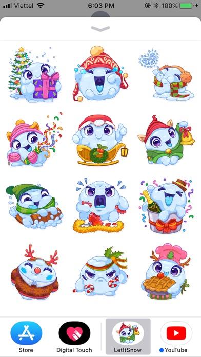 Christmas Snow - Xmas Sticker screenshot 1