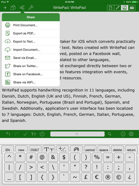 WritePad I Handwriting to Text screenshot-3