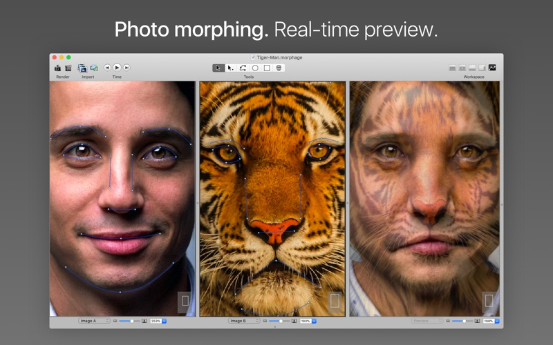 Screenshot #1 pour Morph Age - Morphing d'images