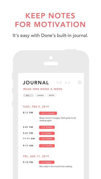 Done: A Simple Habit Tracker screenshot-8